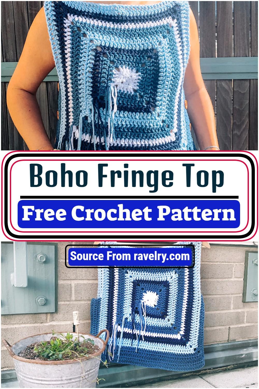 Free Crochet Boho Fringe Top Pattern