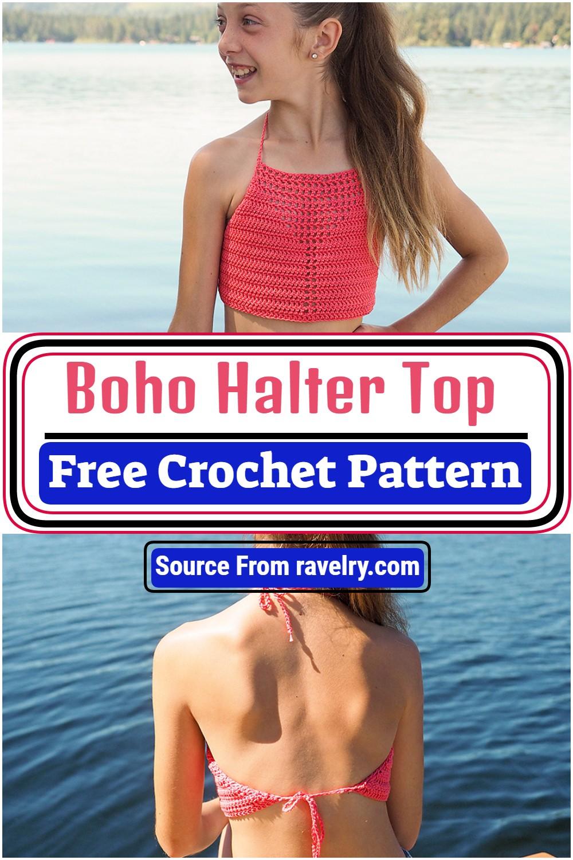 Free Crochet Boho Halter Top Pattern