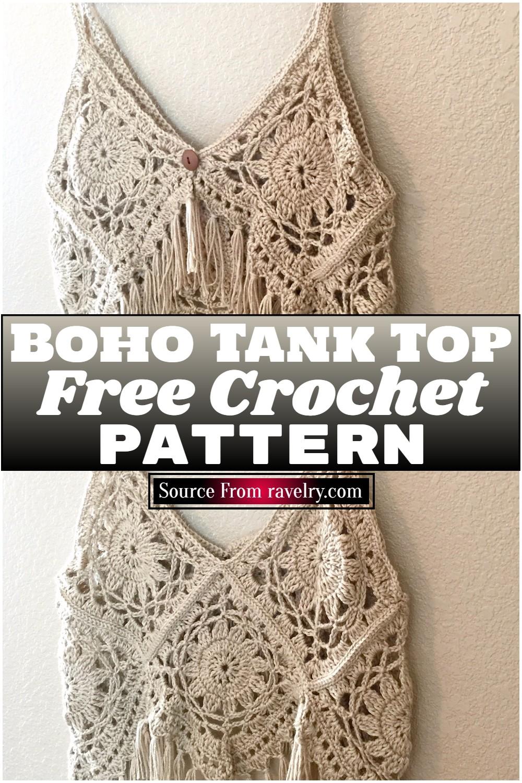 Free Crochet Boho Tank Top Pattern