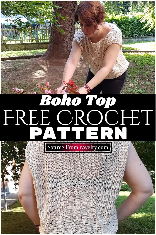 Free Crochet Boho Top Pattern