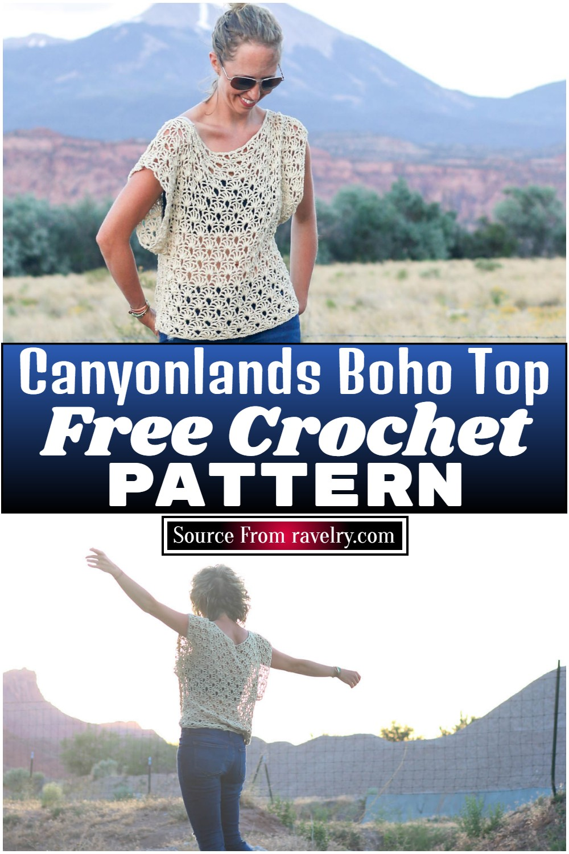 Free Crochet Canyonlands Boho Top Pattern