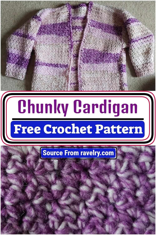 Free Crochet Chunky Cardigan Pattern 1