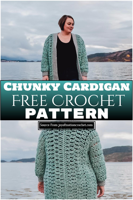 Free Crochet Chunky Cardigan Pattern