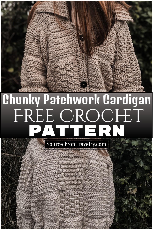 Free Crochet Chunky Patchwork Cardigan Pattern