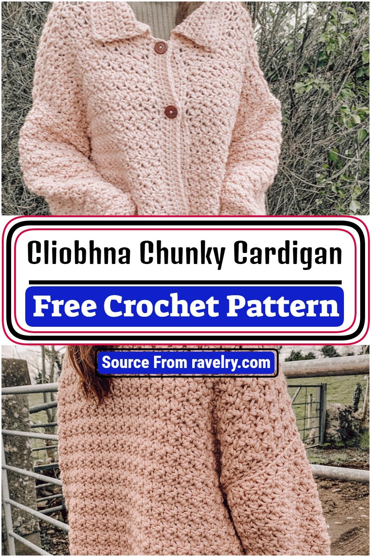 Free Crochet Cliobhna Chunky Cardigan Pattern
