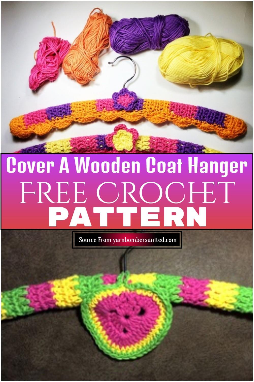 Free Crochet Cover A Wooden Coat Hanger Pattern