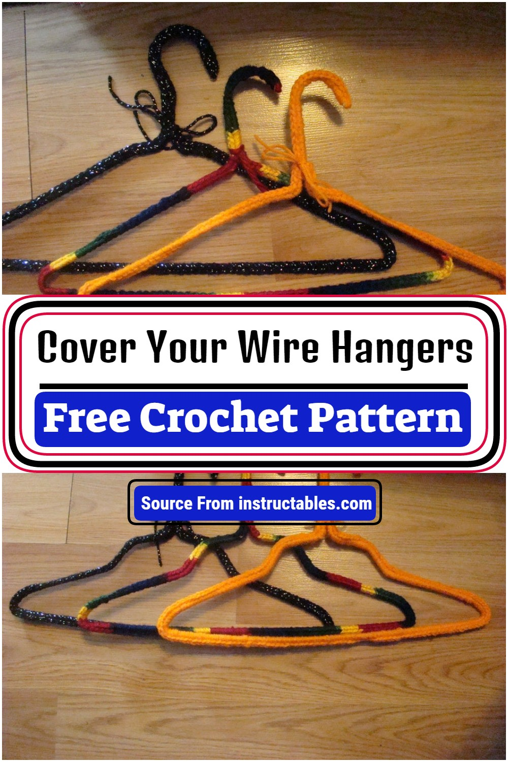Free Crochet Cover Your Wire Hangers Pattern