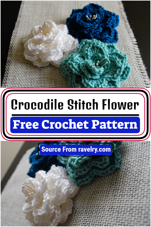 Free Crochet Crocodile Stitch Flower Pattern
