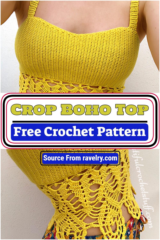 Free Crochet Crop Boho Top Pattern