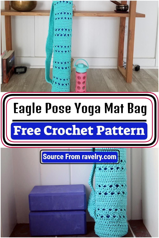 Free Crochet Eagle Pose Yoga Mat Bag Pattern