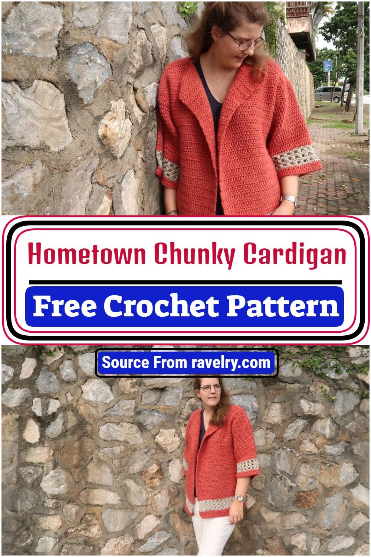 Free Crochet Hometown Chunky Cardigan Pattern