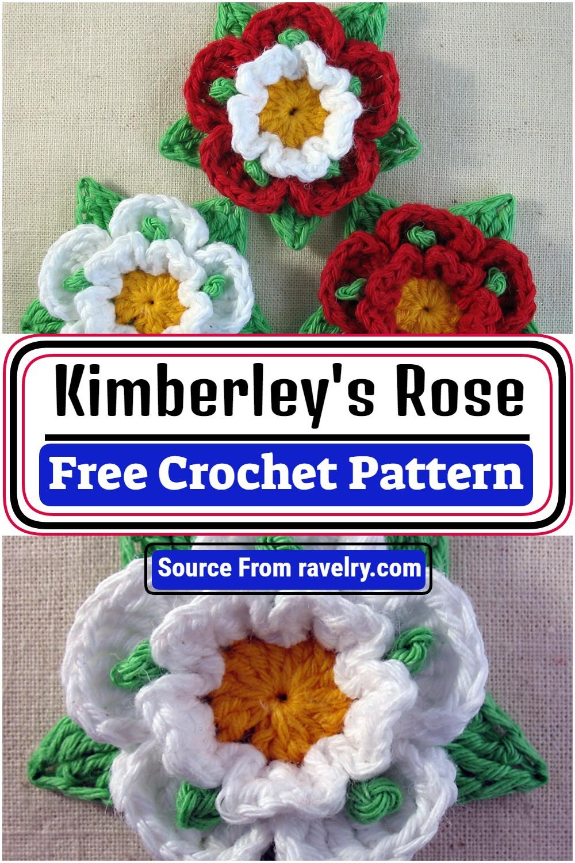 Free Crochet Kimberley's Rose Pattern