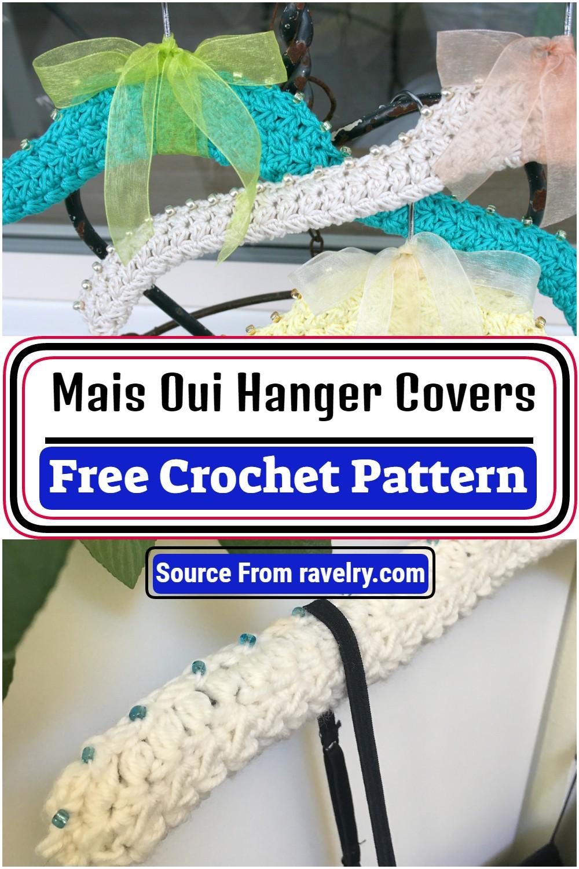 Free Crochet Mais Oui Hanger Covers Pattern