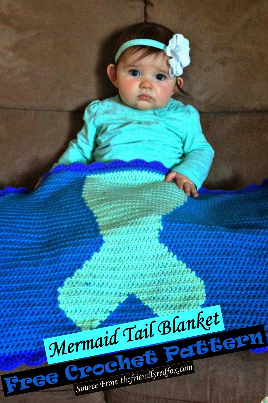 Free Crochet Mermaid Tail Blanket Pattern 1