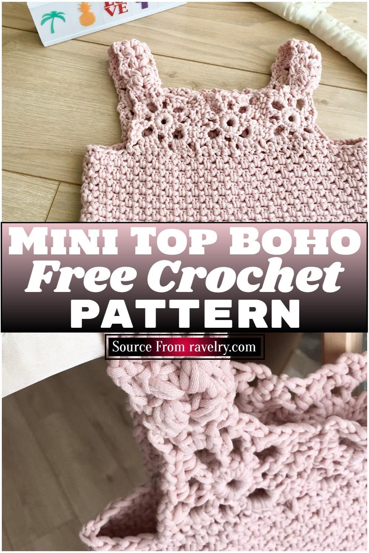 Free Crochet Mini Top Boho Pattern
