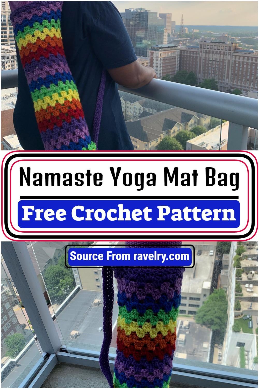 Free Crochet Namaste Yoga Mat Bag Pattern