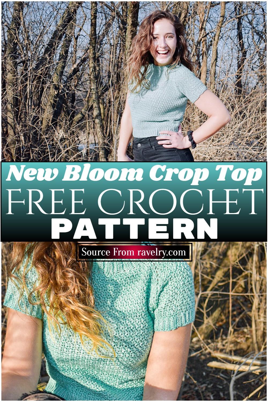 Free Crochet New Bloom Crop Top Pattern