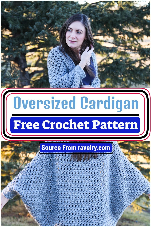 Free Crochet Oversized Cardigan Pattern