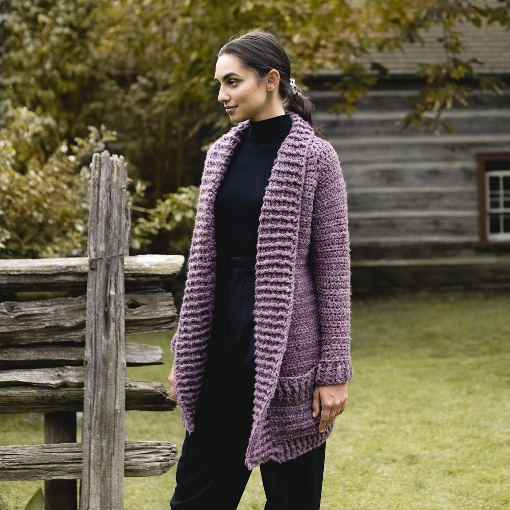 Free Crochet Oversized Cozy Collar Cardigan Pattern