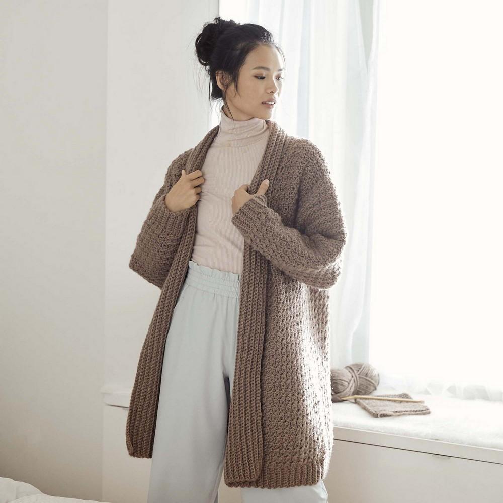 Free Crochet Oversized Cozy Textured Cardigan Pattern