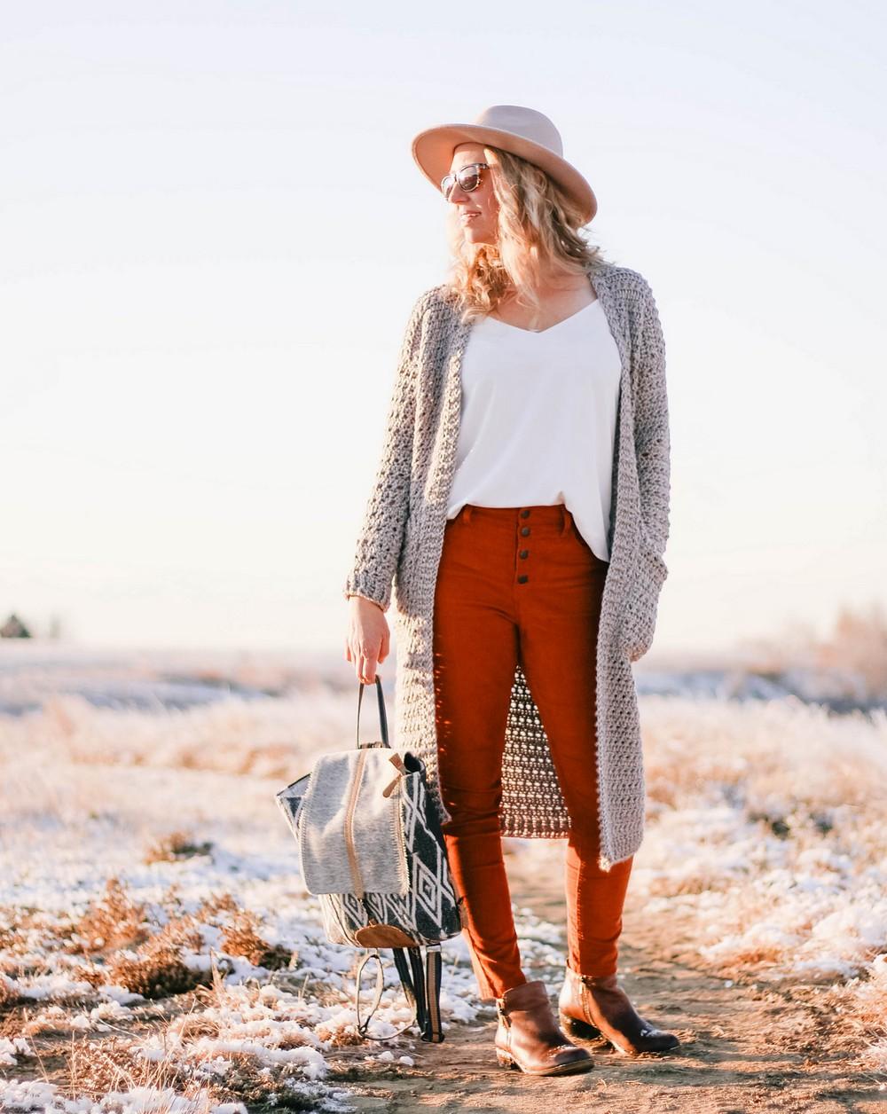 Free Crochet Oversized Elevation Duster Cardigan Pattern