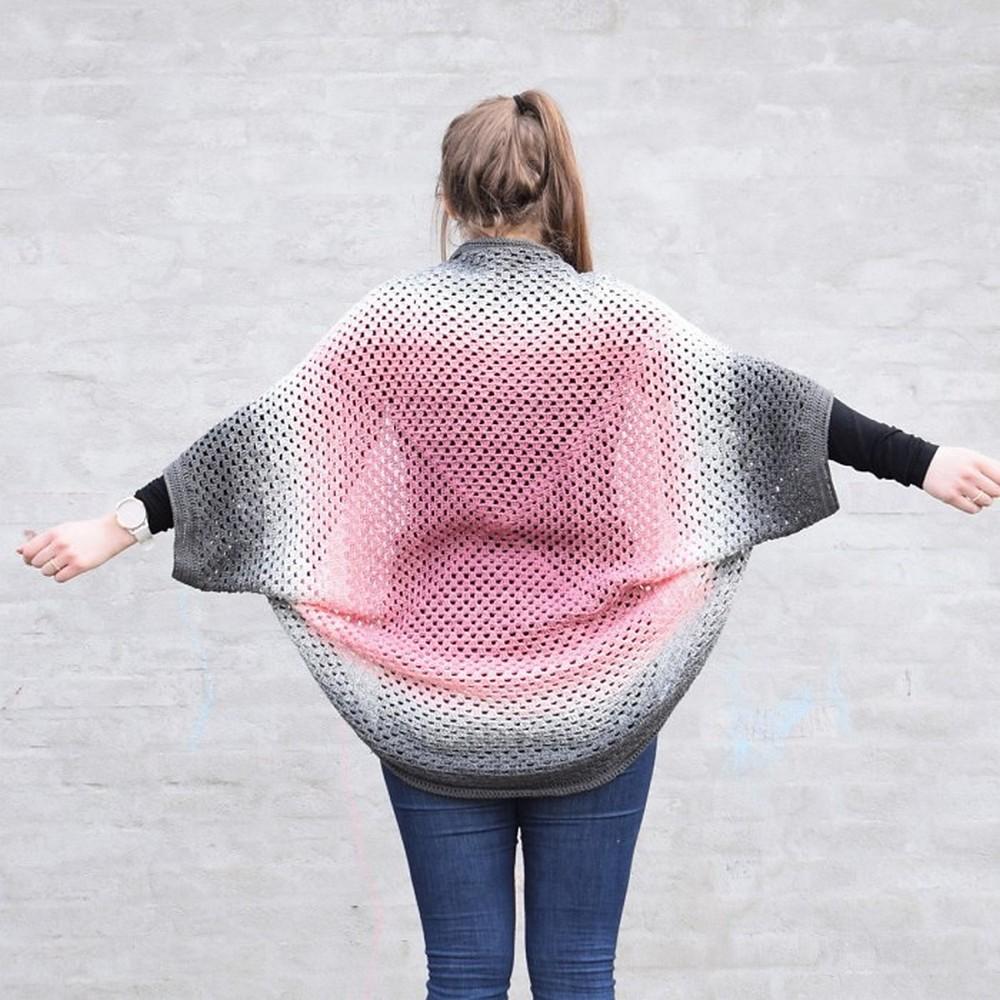 Free Crochet Oversized Granny Twister Cardigan Pattern