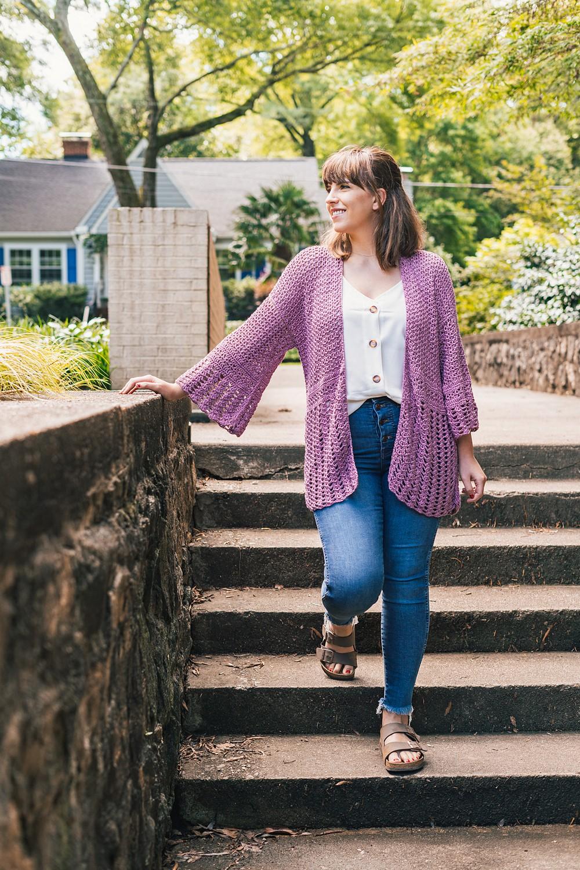 Free Crochet Oversized Hydrangea Cardigan Pattern