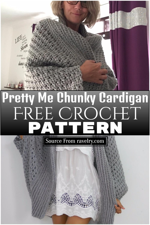 Free Crochet Pretty Me Chunky Cardigan Pattern