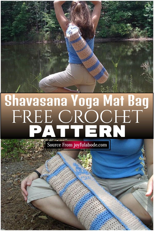 Free Crochet Shavasana Yoga Mat Bag Pattern