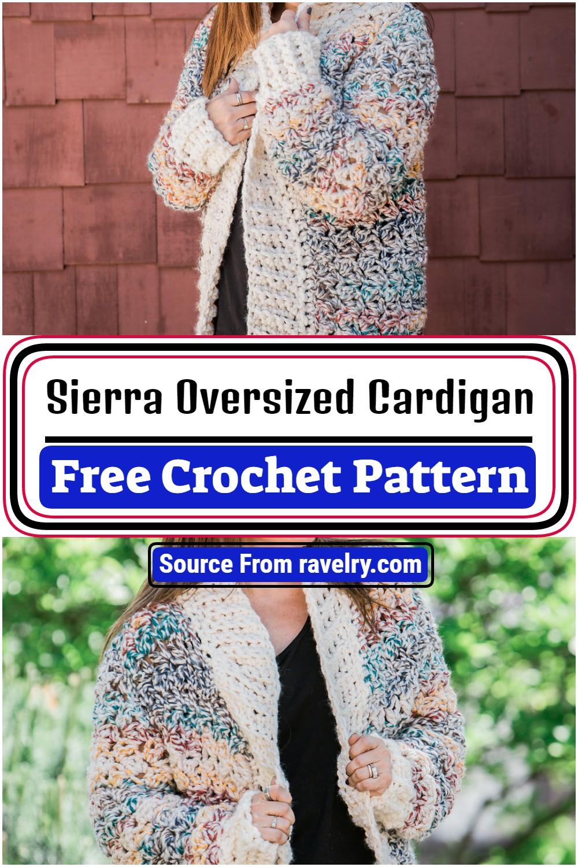 Free Crochet Sierra Oversized Cardigan Pattern