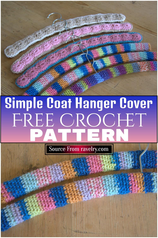 Free Crochet Simple Coat Hanger Cover Pattern