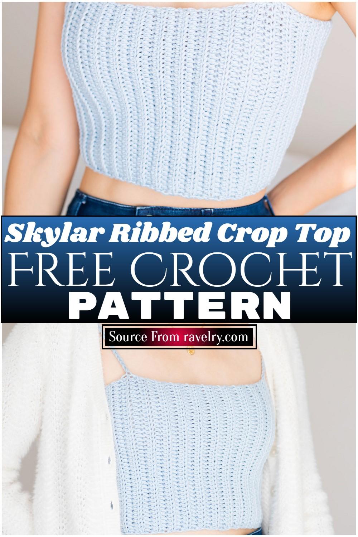 Free Crochet Skylar Ribbed Crop Top Pattern