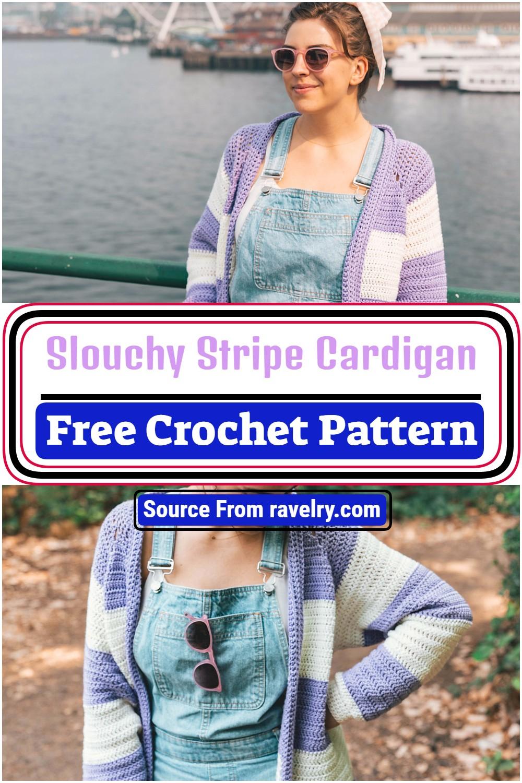 Free Crochet Slouchy Stripe Cardigan Pattern