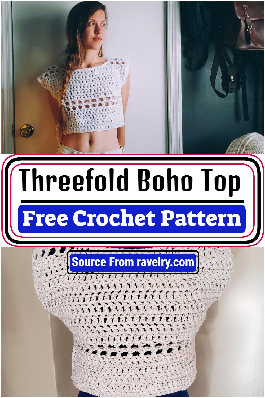 Free Crochet Threefold Boho Top Pattern
