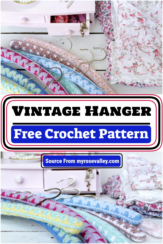 Free Crochet Vintage Hanger Pattern