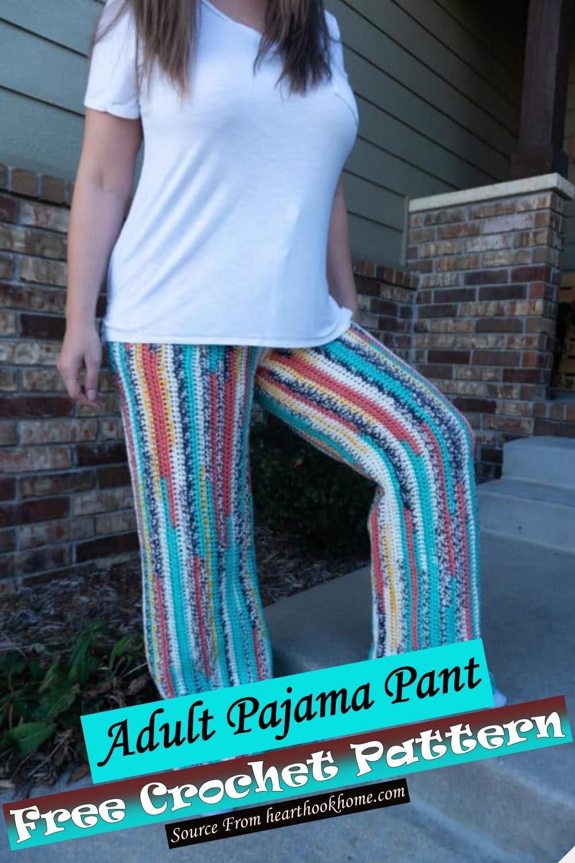 Adult Pajama Pant Crochet Pattern 1