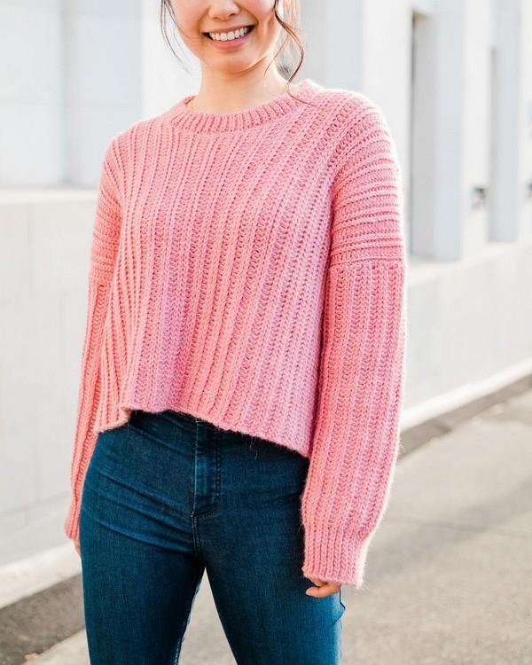 Crochet Amalfi Ribbed Sweater Pattern