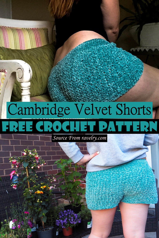 Crochet Cambridge Velvet Shorts Pattern