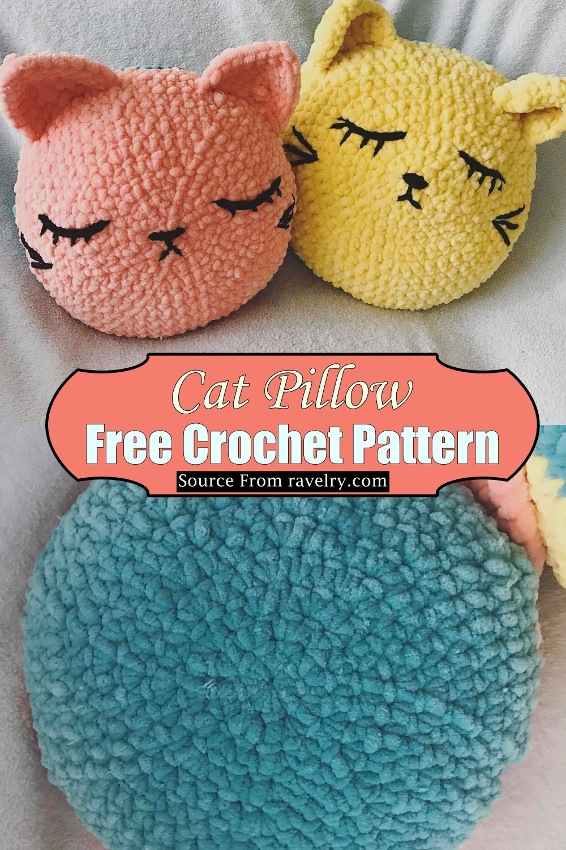 Crochet Cat Pillow Pattern