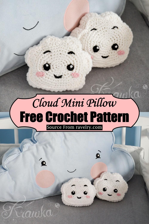 Crochet Cloud Mini Pillow Pattern