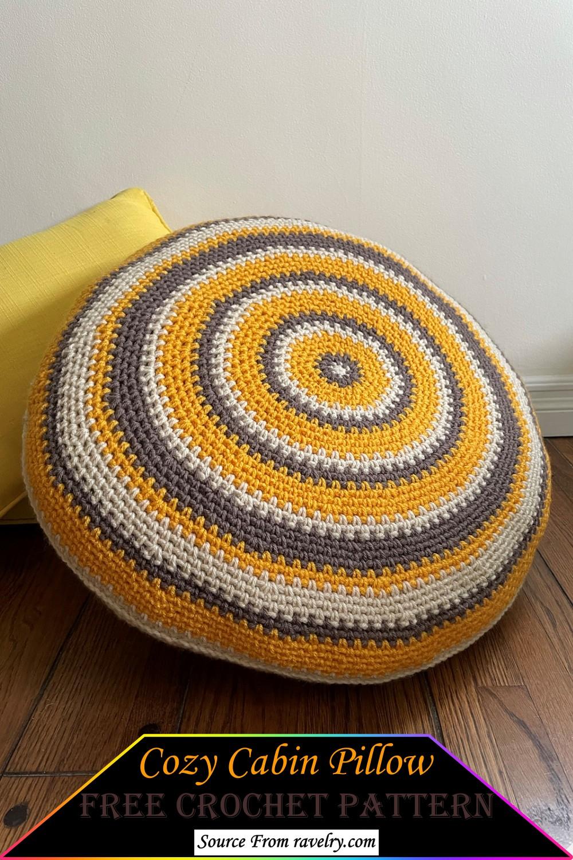 Crochet Cozy Cabin Pillow Pattern