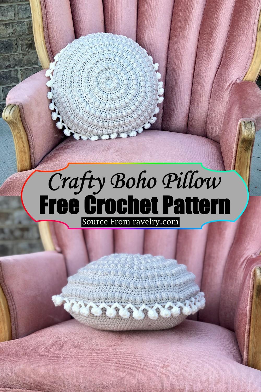 Crochet Crafty Boho Pillow Pattern