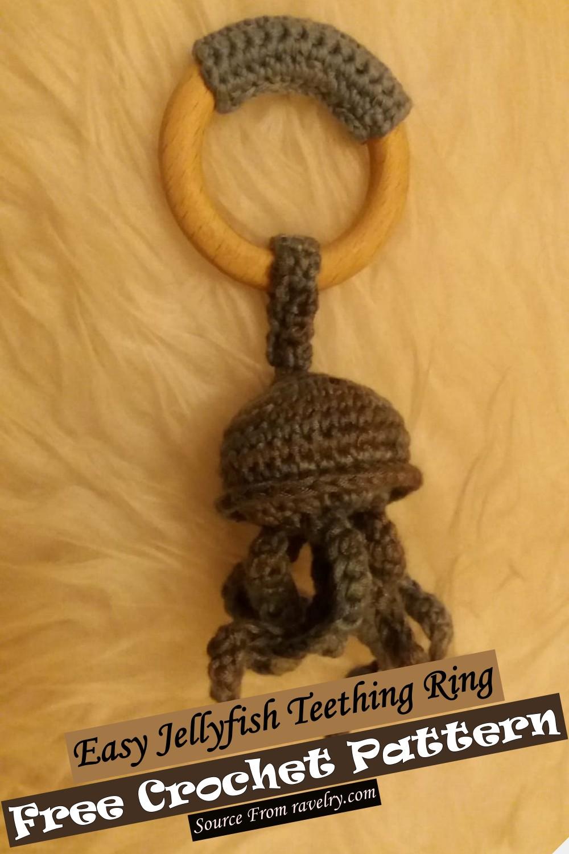 Crochet Easy Jellyfish Teething Ring Pattern
