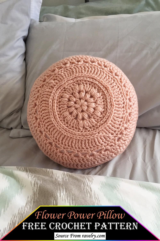 Crochet Flower Power Pillow Pattern