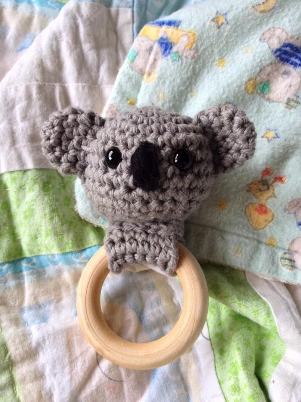 Crochet Koala Bear Teething Ring Pattern