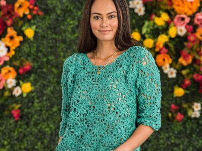 Crochet Lacy Motif Top Pattern