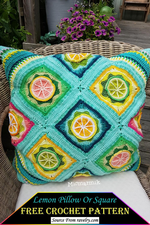 Crochet Lemon Pillow Or Square Pattern