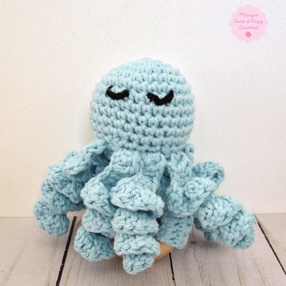 Crochet Olly The Octopus Teething Ring Pattern