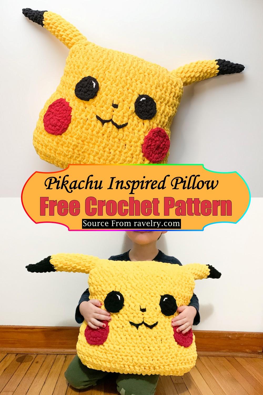 Crochet Pikachu Inspired Pillow Pattern