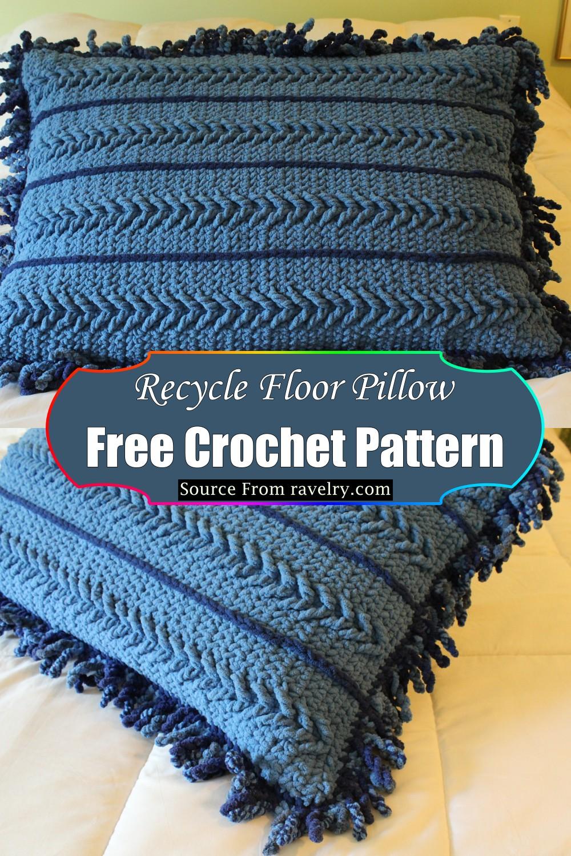 Crochet Recycle Floor Pillow Pattern